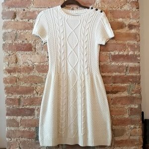 Rubbish Cable Knit Sweater Dress